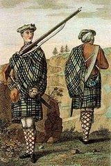 history of Scotish kilts, great kilt