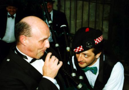 kilts and bagpipes at our weding