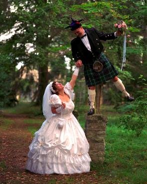me at my kilt wedding
