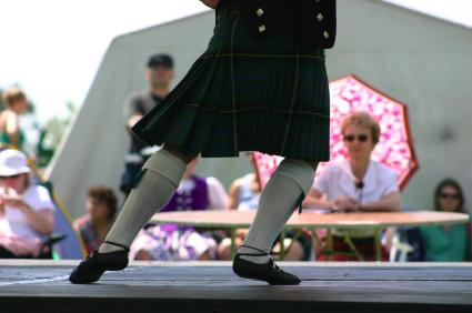 Highland dancer at Highland games
