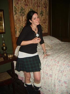 ladies kilt black watch tartan