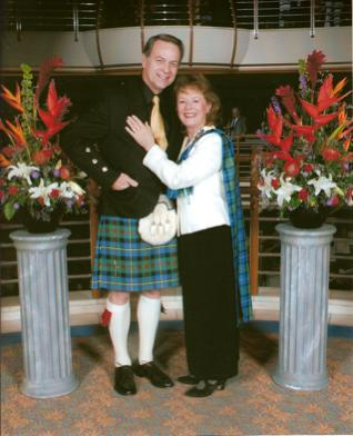 your kilt photos Carol and David on a cruise