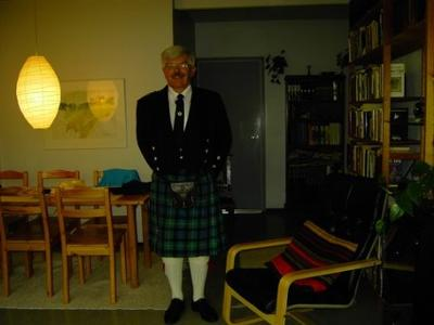Mike in his kilt