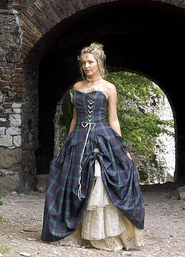 tartan wedding dress