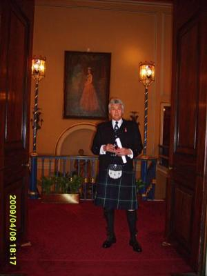 Colin wearing his Regimental Kilt
