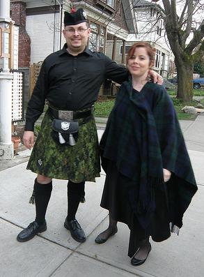 wearing a kilt