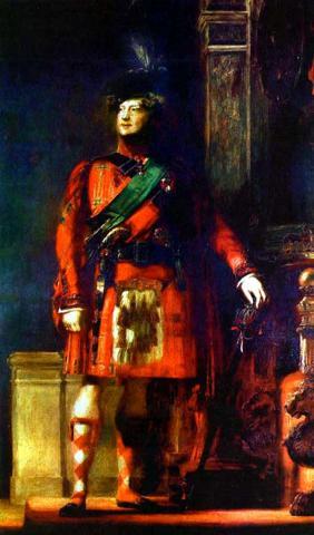 history of the kilt King George IV wearing his kilt