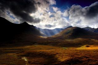 mountain scenery in Scotland