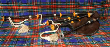 set of Great Highland bagpipes