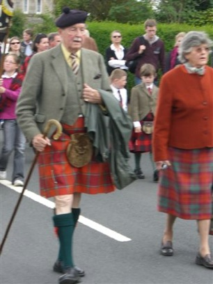 Highland kilts clan McNab chief and his wife