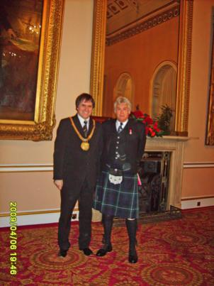 your kilt photos Colin and the Mayor of Liverpool