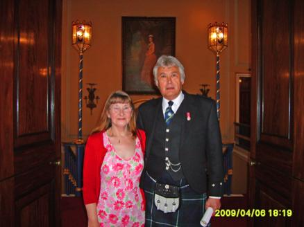 your kilt photos Colin and his wife Jo