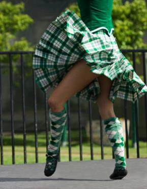 girl in Highland Dancing competitiopn