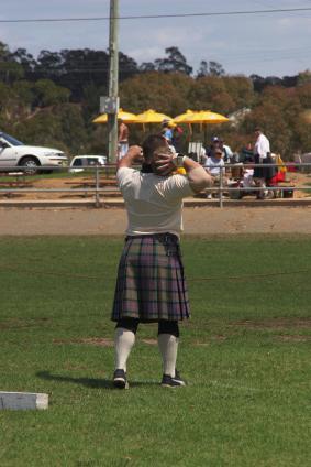 shot putt at the Highland Games