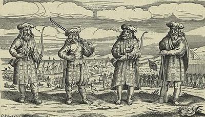 German print showing Highlanders in about 1630