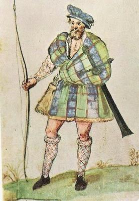 Earliest depiction of the Belted Plaid dated to 1607