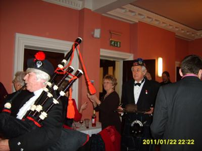 Colin and the Piper on Robert Burns Day