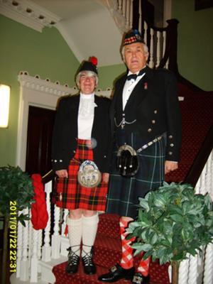 Sylvia and Colin on Burns Night